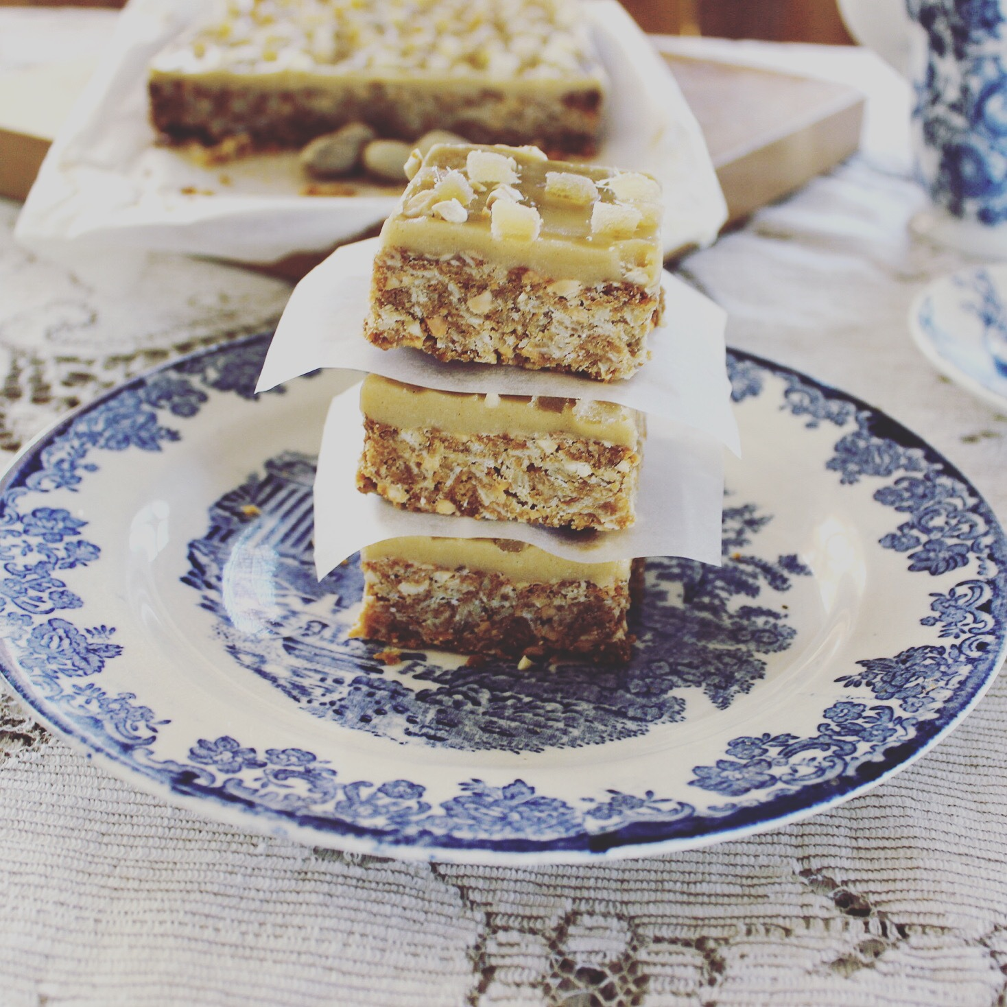 One-Pot Oat, Nut and Ginger Slice Recipe (with vegan option), by Emily Bakes