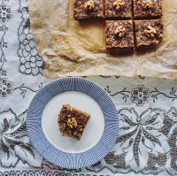 Walnut and Fig Flapjacks recipe, by Emily Bakes (Gluten Free, Vegan)
