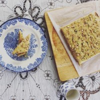 No-Bake Ginger and Pistachio Slice / Tray Bake Recipe - A New Zealand classic, by Emily Bakes